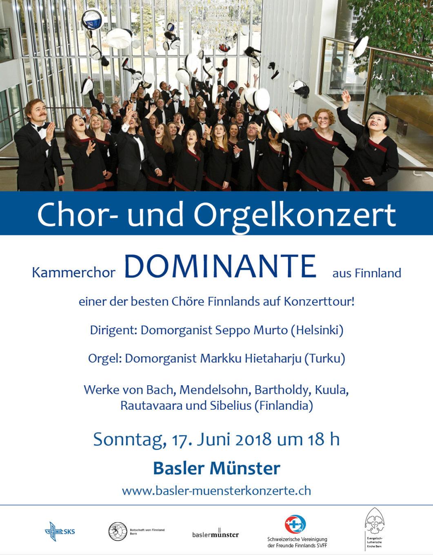 FINNISCHES CHOR- UND ORGELKONZERT IM BASLER MÜNSTER