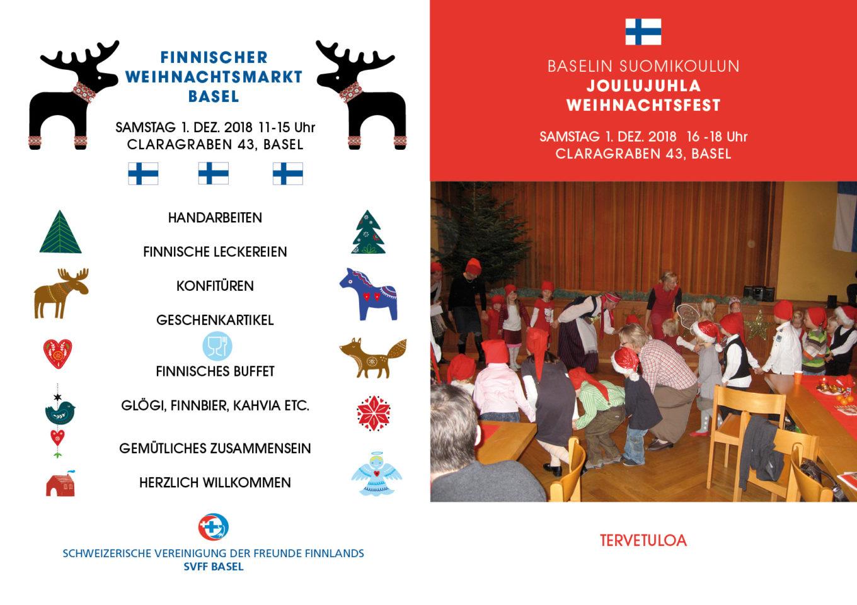 Finnischer Weihnachtsmarkt und Weihnachtsfest Suomi Koulu in Basel