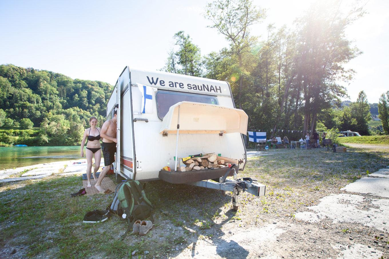 Mittsommer-Fest mit mobiler Sauna