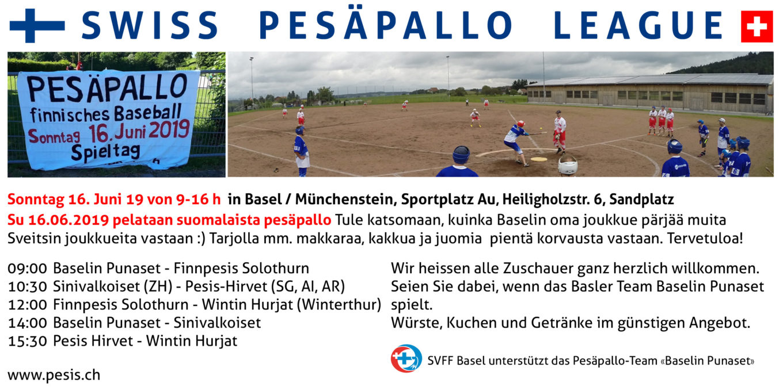 Pesäpallo              in Basel/Münchenstein