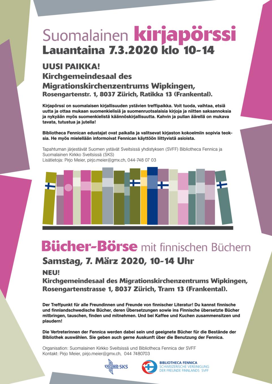 Kirjapörssi / Börse mit finnischen Büchern